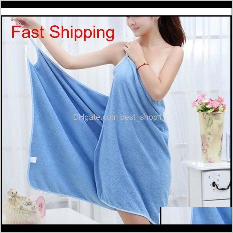 Robe Home Textile Towelwomen Robes Bath Wearable Towel Dress Girls Women Womens Lady Fast Drying Beach Spa Magical N Qylycr Nsaiu Frp2U