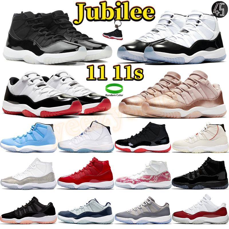 Jubileu 25º aniversário 11 homens sapatos de basquete 11s sneakers high concord 45 Pantone baixo branco criado azul homens homens mulheres treinadores esportivos