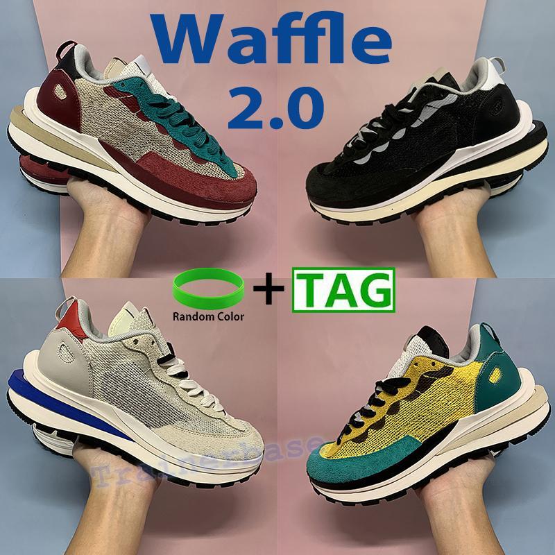 와플 2.0 실행 신발 xsacai 남성 여성 운동화 투어 노란색 경기장 녹색 트리플 블랙 화이트 연기 회색 망 스포츠 트레이너 chaussures 태그