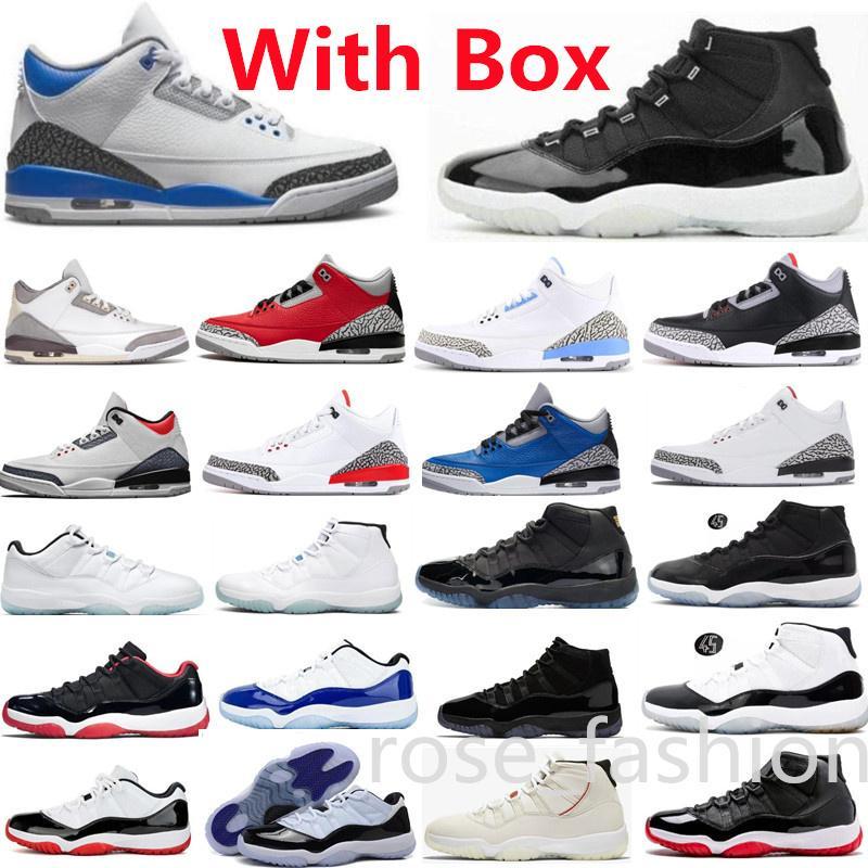 Kutu Racer Blue UNC 11 Jubilee Basketbol Ayakkabıları 11s Düşük Efsane Bred Gama 4 Kırmızı Yangın Kara Kedi Üniversitesi Yarış Metalik Turuncu Serin Gri Erkek Sneakers
