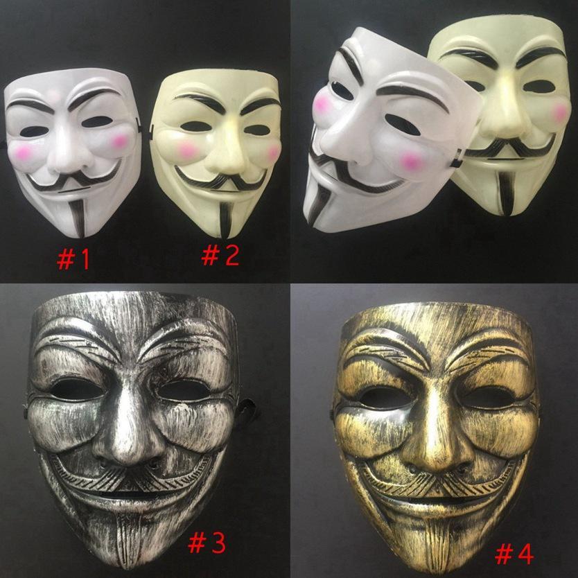 V máscara de halloween face completa mascarada máscara vendetta anônimo cara festa cosplay máscaras de terror cyz3031