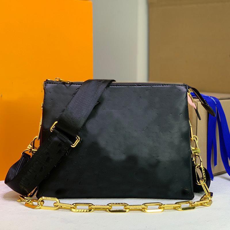 Handbag Shoulder Crossbody Bags Under-arm Baguette Bag Puffy Lambskin Leather Embossed L letter Removable Adjustable Strap Zip Closure 3 Layers Clutch