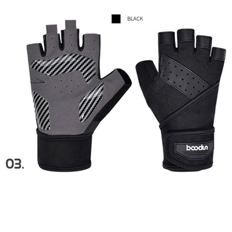 Cycling Gloves Gym Fitness Hand Palm Protector With Wrist Wrap Support Crossfit Workout Weight Lifting Glove