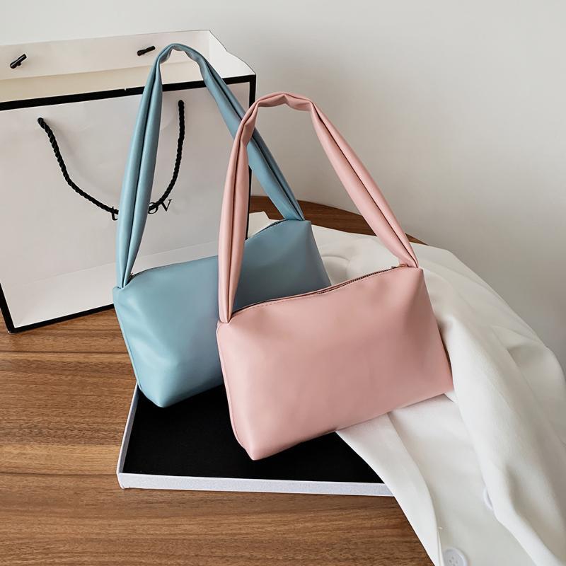 HBP 2021 Elegant Femmes Simple Couleur Solide Petite épaule Sacs Soft Pu Cuir Sacs Sacs sous-armes Femme Mini fourre-tout Bolsa Feminina