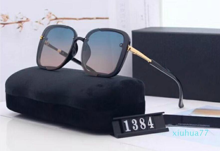 2021 de alta calidad Nueva moda de verano Vintage Gafas de sol Vintage Diseñadores de la marca Para Mujer Gafas de sol Señoras Gafas de sol con casos sin caja