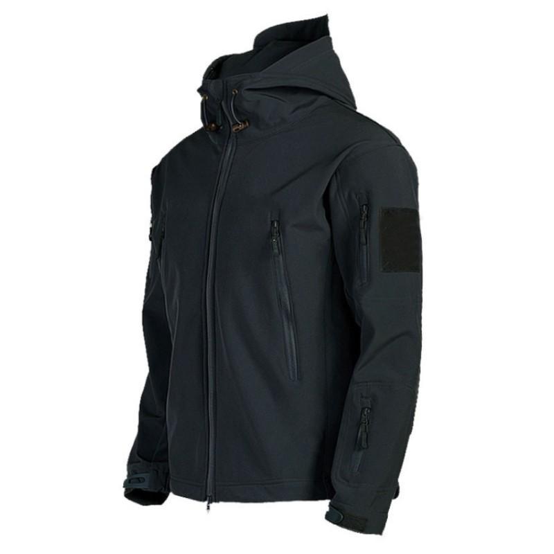 Мужская куртка с капюшоном на открытом воздухе Спорт осень зимние куртки Водонепроницаемая ветровка лыжи на молнии толстовки для мужчин спортивные вершины одежды
