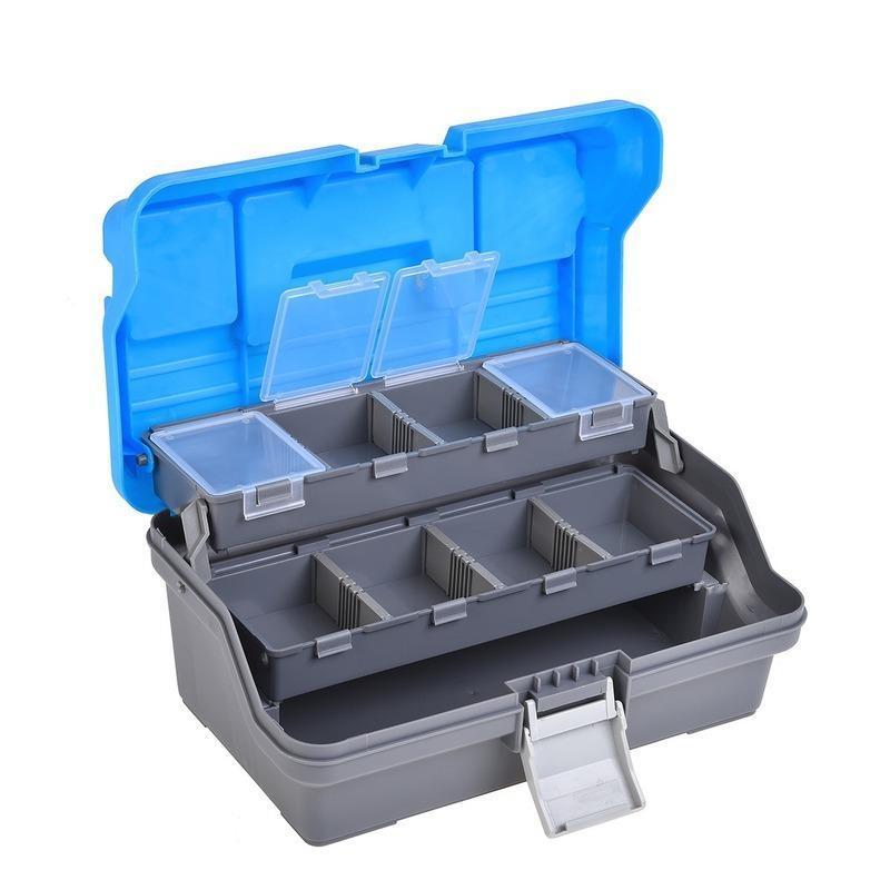 Schicht Wasserdichte Angelgerät Box Aufbewahrungskoffer Gang Starke Korrosionsbeständigkeit Tragbare Zubehör