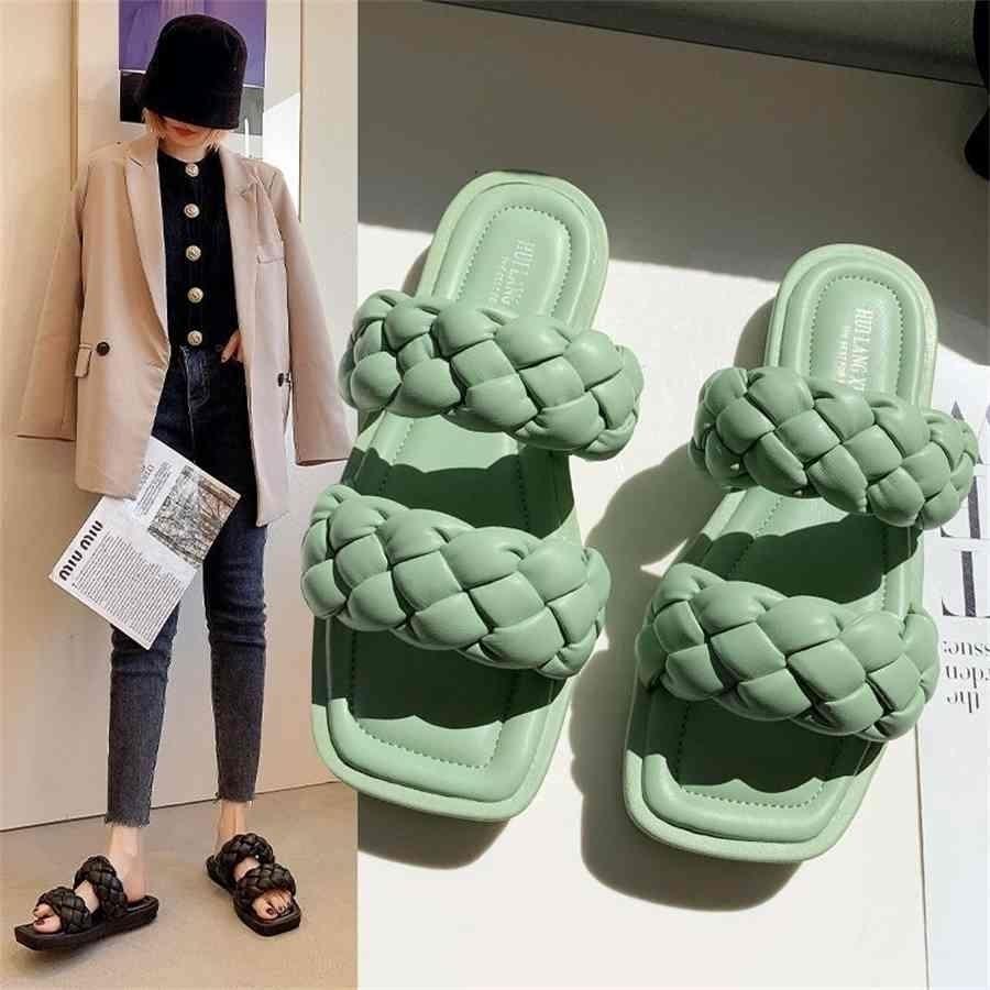 Женские тапочки скользит на открытом воздухе летние тапочки женские туфли роскошные дизайнеры обувь для женщин Flop Plop платформа