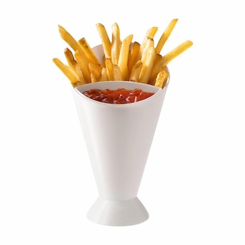 فرايز برميل الفرنسية frie سلة فرايز دلو مزدوج وقوي مربع فرايز مع الكاتشب CCF7818