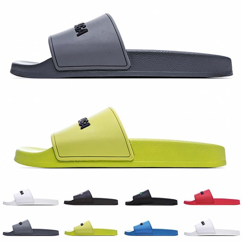 [Con caja] Paris preferencial para hombre y para mujer zapatillas deportivas Piscina de goma Sandalias Sandalias Playa al aire libre Causal Pisos de interior Flip Flobs