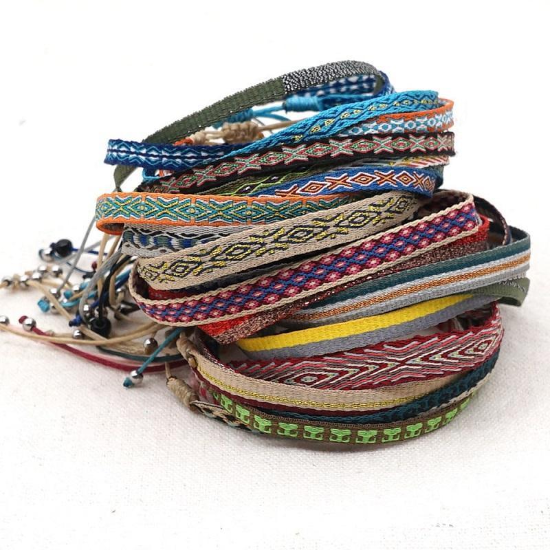 VSCO Girl Women Boho Braided Rope Chain Bracelet Ethnic Handmade Weave Bracelets Trendy Pulsera Mujer Moda Bohemian Bangles Vintage Jewelry Accessories Gift