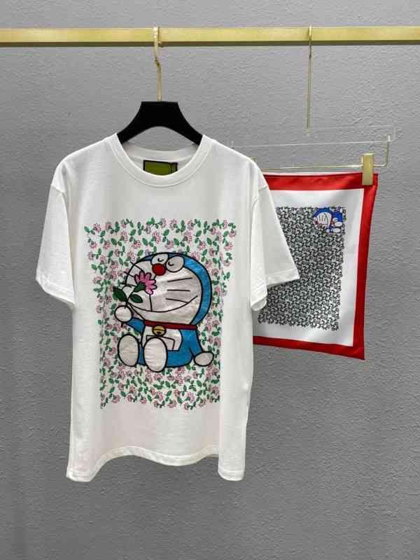 T-shirt à manches florales à manches florales à imprimer court
