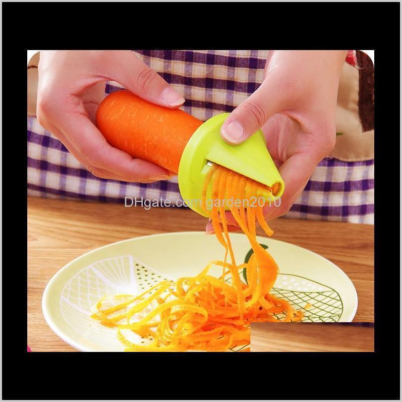 Kitchen, Dining Bar & Garden Drop Delivery 2021 Funnel Shape Spiral Slicer Shred Creative Peeler Fruit Grater Vegetable Tools For Home Kitche