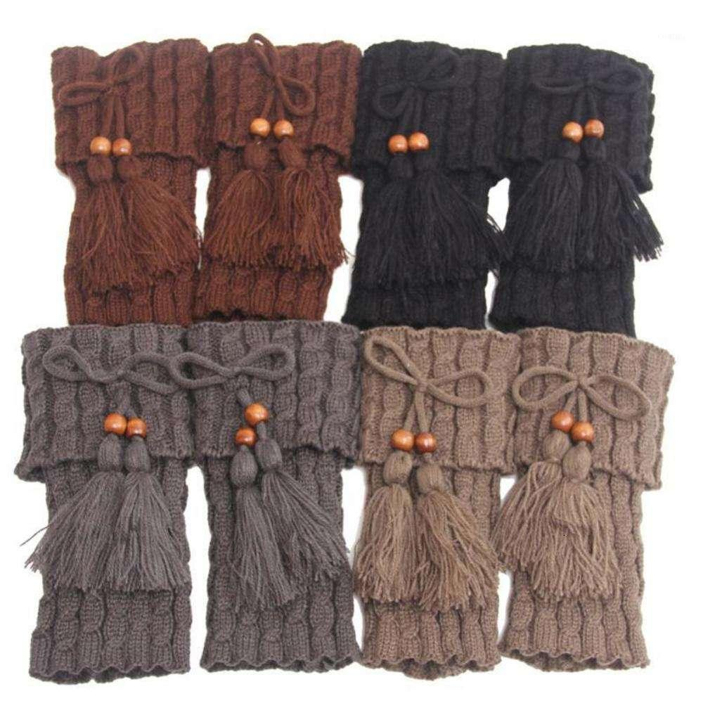 1 Pair Knitted Women Crochet Boot Cuffs Leg Warmer Fashion Woman Boho Boots Socks Lady Winter Boot1