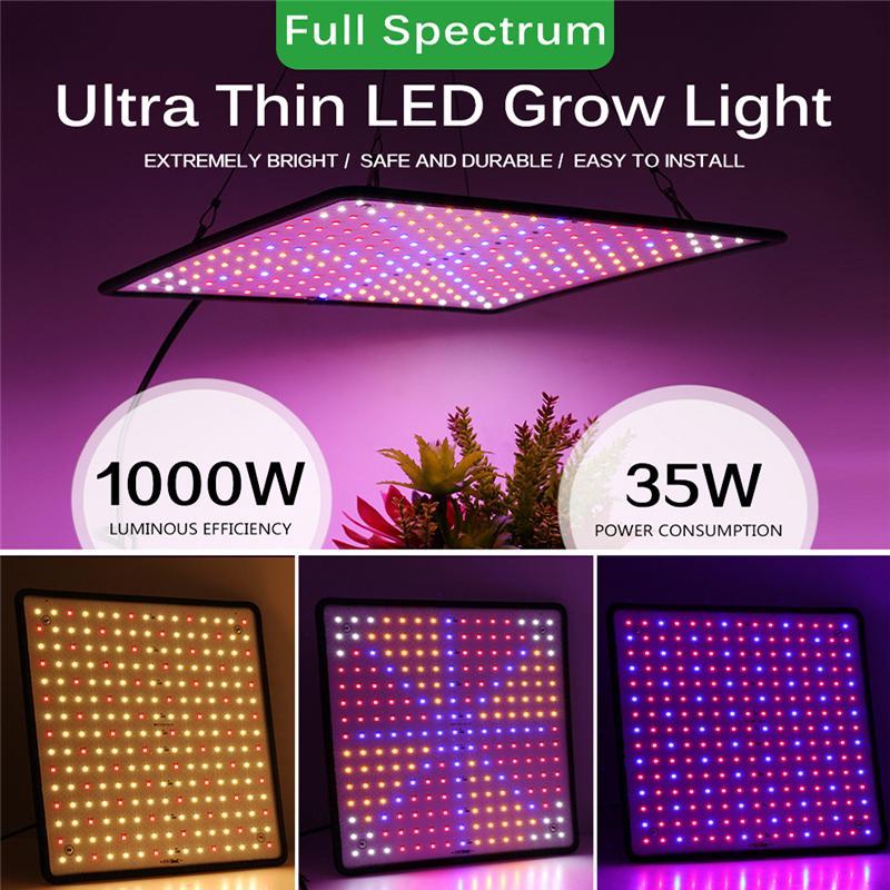 الطيف الكامل تنمو ضوء 1000W المصابيح أضواء مصنع لوحة AC85-265V النمو في الأماكن المغلقة الزهور الصمام النباتات العشبية مصابيح خيمة