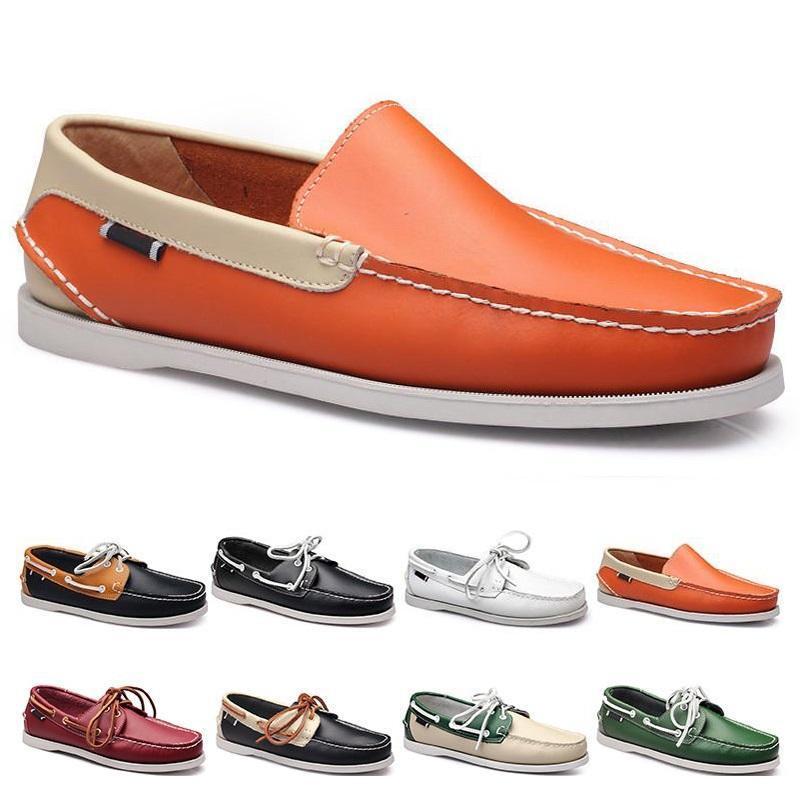 أزياء رجالي عارضة أحذية نوع 68 الجلود النمط البريطاني أسود أبيض براون أخضر أصفر أحمر في الهواء الطلق مريحة تنفس chaussures zapatos schuhe المدربين