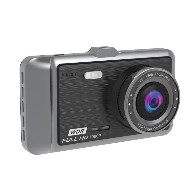 كاميرات الويب سيارة DVR 4 بوصة IPS شاشة 1080 وعاء HD زاوية المزدوج كاميرا القيادة مسجل 24 ساعة مراقبة وقوف السيارات