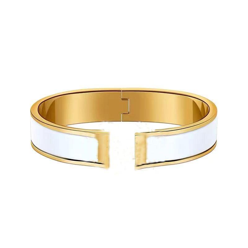Mode Classique Open H Bangle dur Corps dur En Céramique En Céramique Céramique Bracelet Rose Gold Couple Creative Bijoux de haute qualité avec boîte cadeau d'emballage exquis