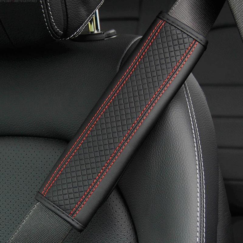 Selezione della spalla in pelle Selezione Comfort Breath Pad Padding Cinture per sedile Auto Interior per Kia BWM X5 Cintura per cinghia di sicurezza auto Accessori