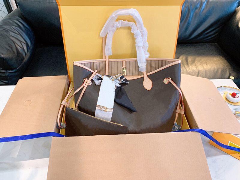 Frauen Luxurys Designer-Taschen 2021 Original Alte Blume Übergroße Tote Großhandel Lackleder Handtaschen Imitation Marke Klassische Modedesigner Große Umhängetasche