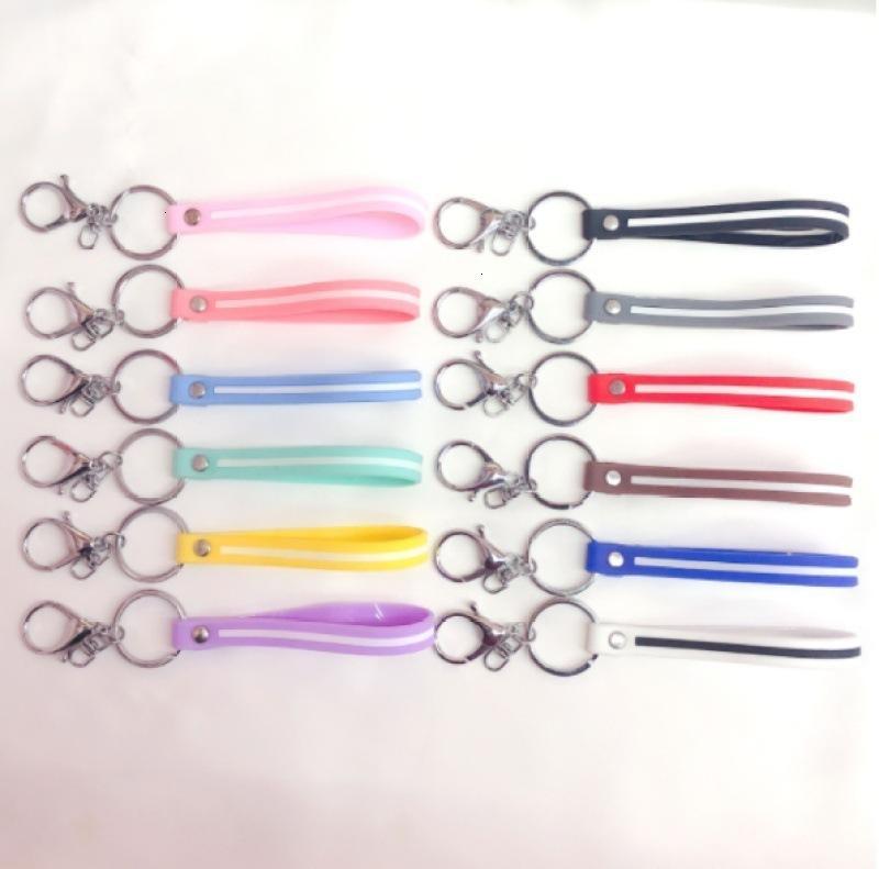 Chaîne de clés de cordon en cuir de trois pièces en trois pièces