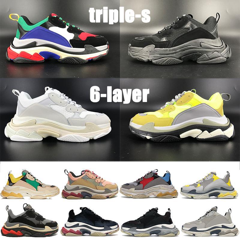 2021 أعلى جودة s 6-layer مزيج الوحيد منصة عارضة الأحذية الفضية الأحمر متعدد الألوان الثلاثي الأسود الأبيض النيون الأصفر رمادي الرجال النسائية أحذية النسائية