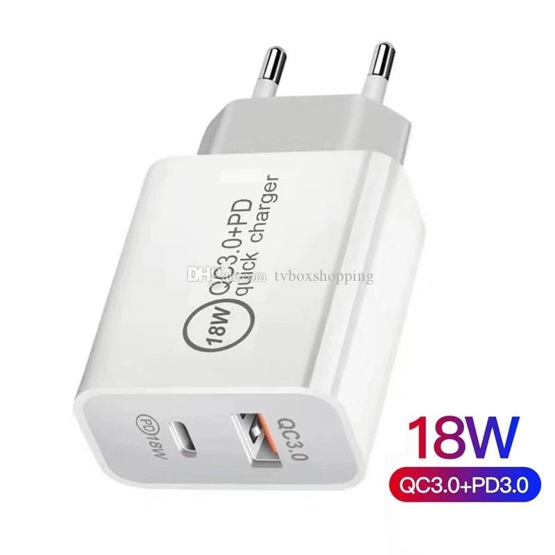 18W 20W Fast USB Charger Type C PD Quick Charging For Moblie Phone With QC 4.0 3.0 No Retail Box