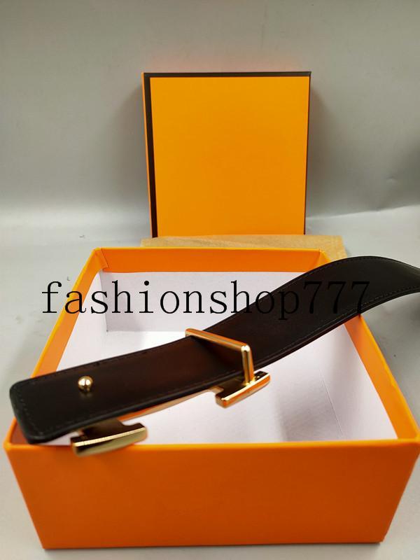 33 Fashion Big buckle genuine leather belt with box designer men women high quality mens belts