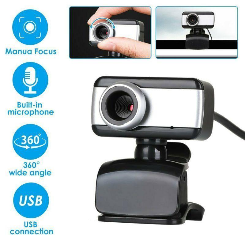 كاميرات الفيديو 480P المستهلك 360 درجة تدوير كاميرا كاميرا USB عالية الدقة مع ميكروفون للكمبيوتر المحمول الكمبيوتر 2021