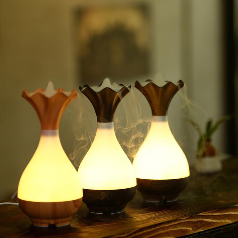 العطر مصابيح زهرية الشكل 95ML الهواء المرطب الرومانسية ضوء usb الضروري النفط الناشر سيارة المنزلية كتم تنقية رائحة أنيون ميست صانع