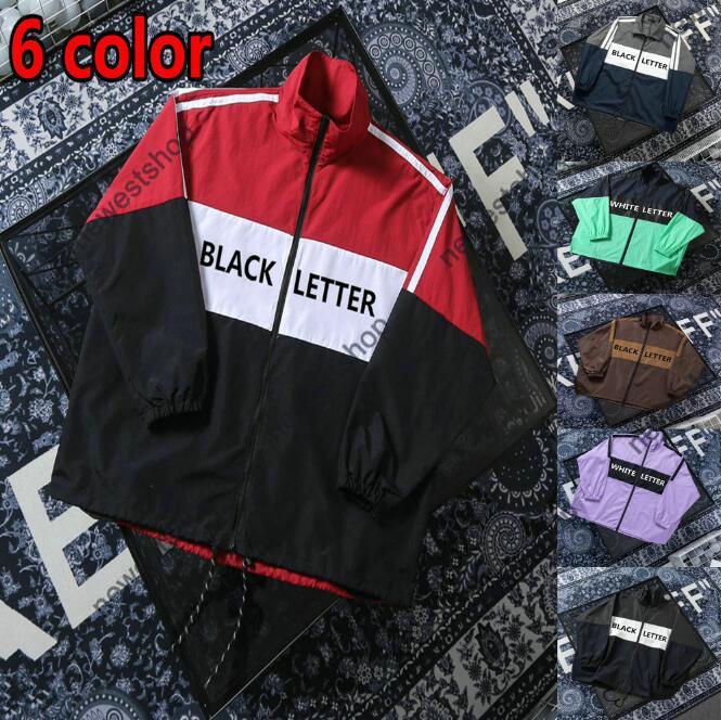 21ss Diseñador de chaquetas de lujo para ropa para hombre Moda Finotúreco Cortavientos Top Carta de calidad Imprimir Patchwork 6 Color Zip Streetwear Outwear Chaqueta