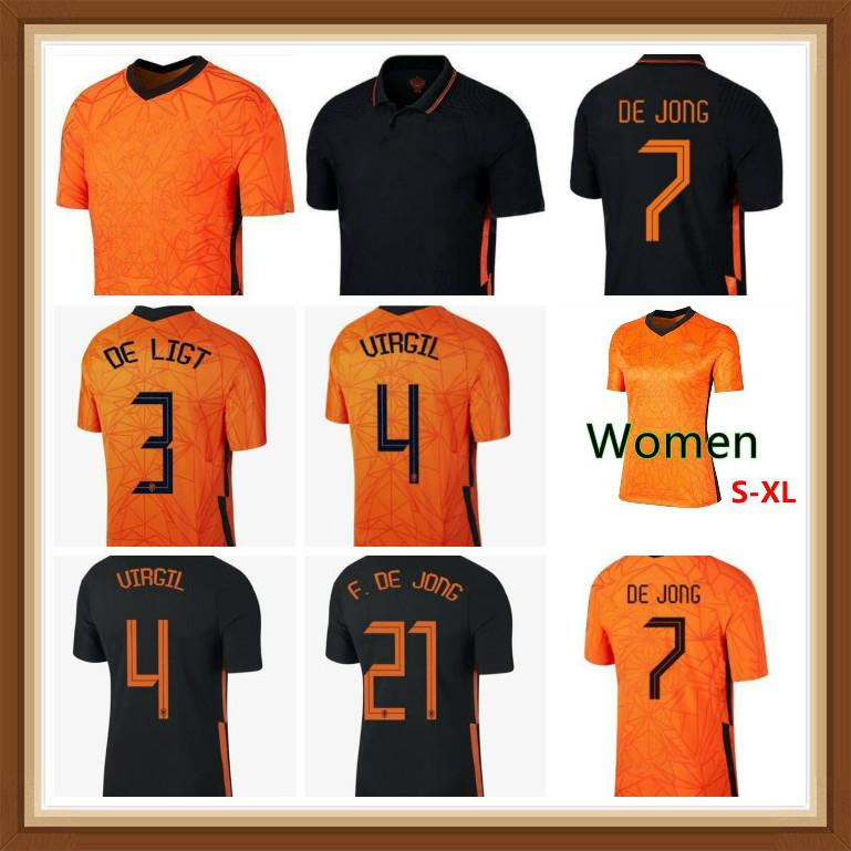 Memphis 2021 Jerseys de futebol de Jong Ligt Strootman Van Dijk Virgil 2022 Camisa de Futebol