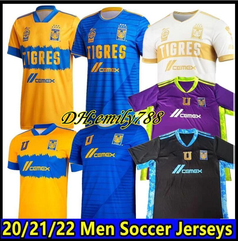 2020 Mexique UANL Tigres Soccer Jersey 7 étoiles C.SALCEDO GIGNAC VARGAS PIZARRO hommes maillot de football de Wome Camiseta Tigres UANL 20/21 Liga MX