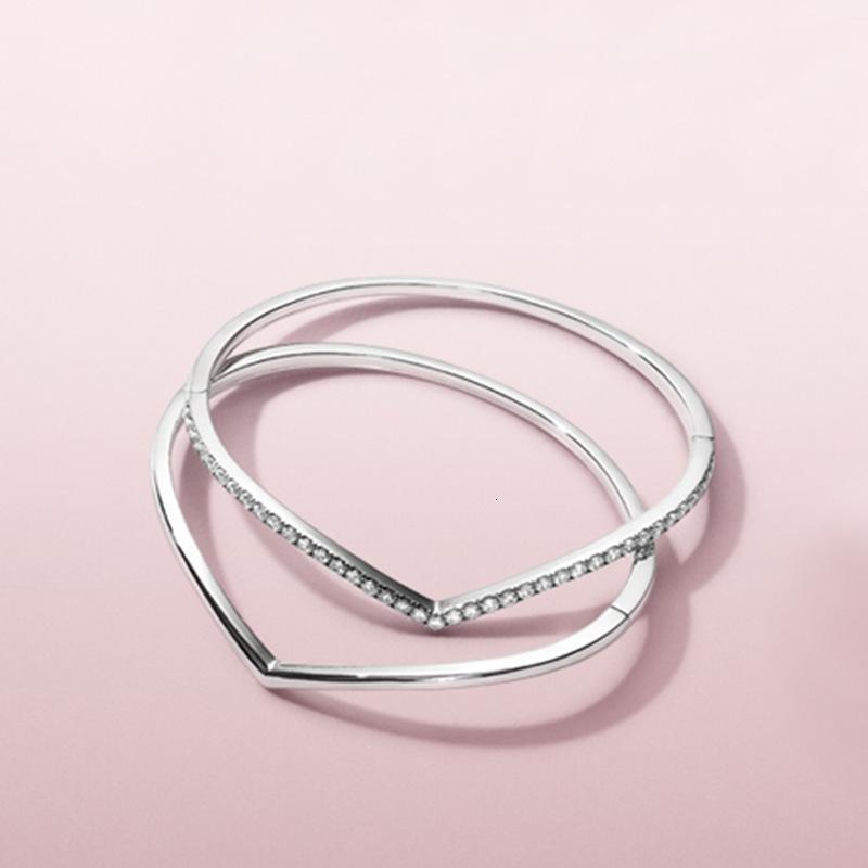 간단한 솔리드 링 기질 V 자형 다이아몬드 패션