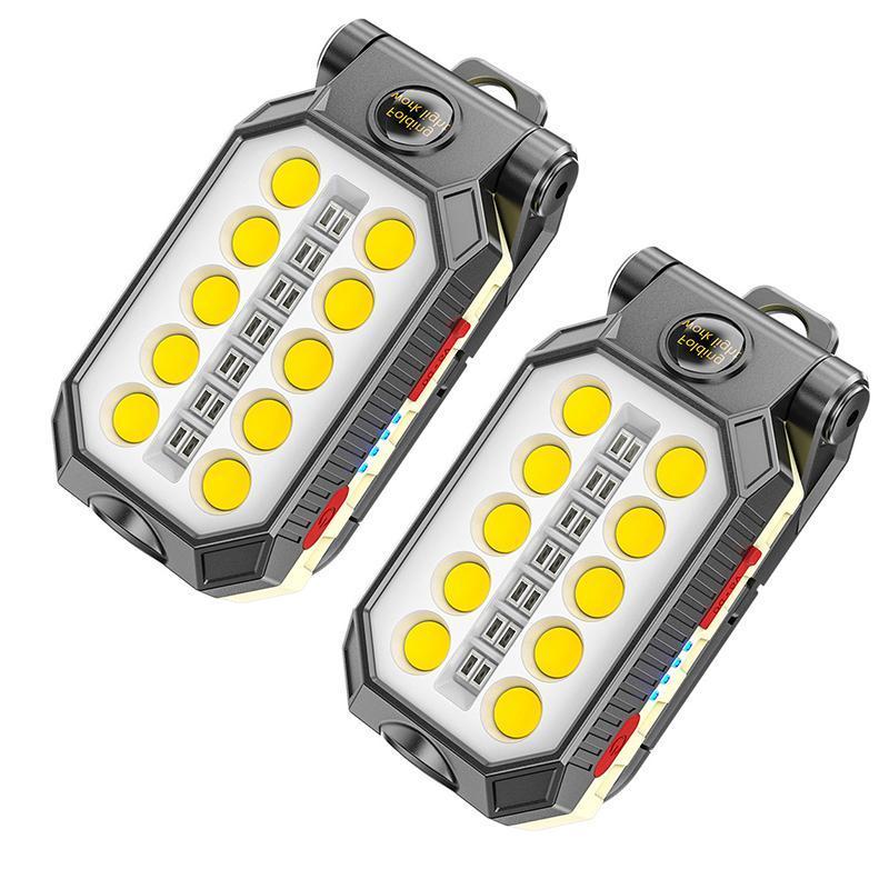 Luz de trabalho recarregável Auto reparação manutenção Super brilhante À prova d'água ímã ímã luz LED lâmpadas
