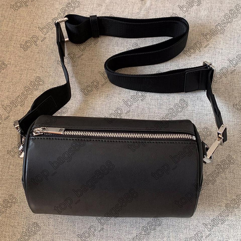 Frauen Luxurys Designer Taschen 2021 Schwarz Echtes Leder Rindsleder Hohlbuchstaben Top 7A Qualität Handtaschen Schulter Crossbody Barrel-förmige Kissenbeutel