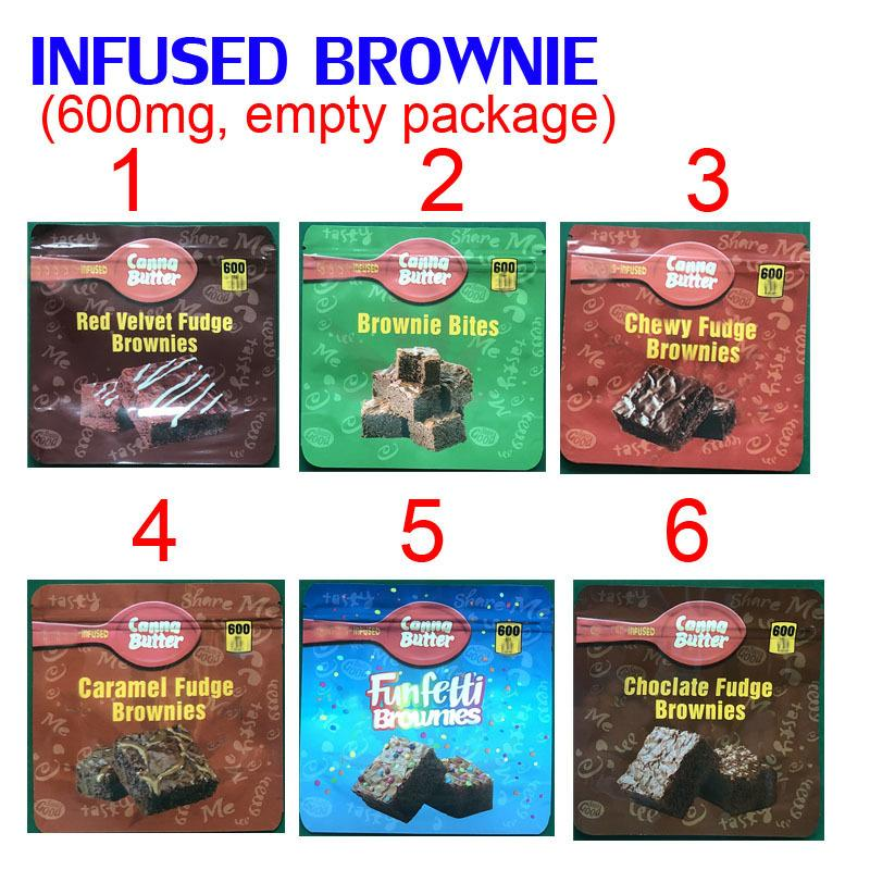 600MG INFUSED brownie bites EDIBLES PACKAGING MYLAR BAGS red velvet chewy caramel funfetti brownies chocolate 8CW1