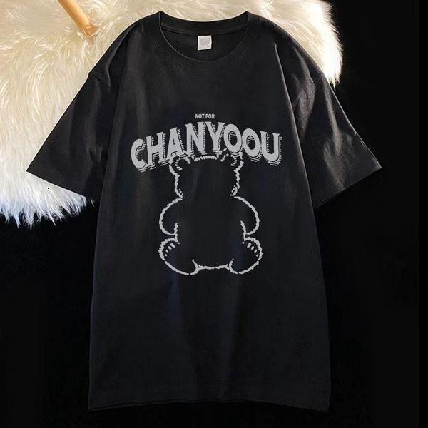 T-shirt à manches courtes en coton Xinjiang 2021 Été Nouvelle grande femme imprimée pour femmes Nouvel an rouge coton rouge