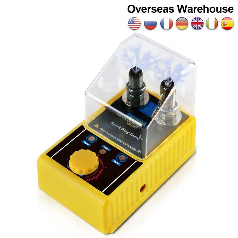 원래 AUTOOL SPT101 220V 110V 자동차 점화 장치 점화 시험기 자동차 진단 도구 이중 홀 분석기