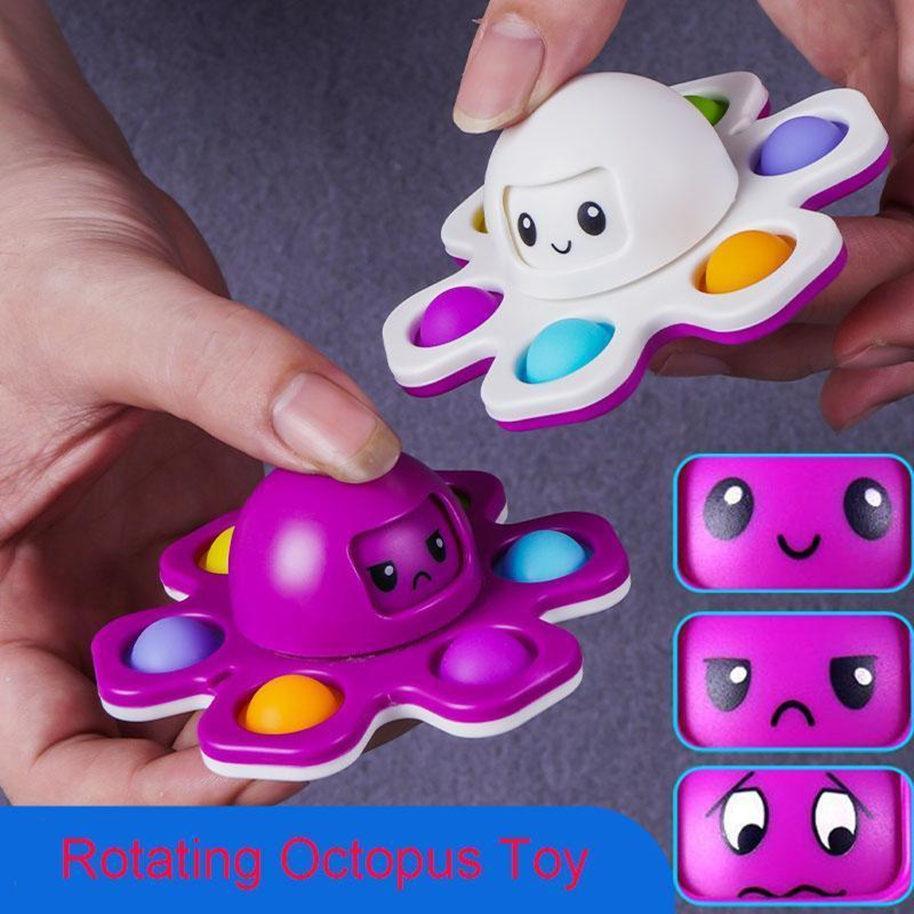 Fitget Toys Octodo Fingers Spinner Push Push Bubble Dice Anti-irritabilidade Ventilação Artefato Fingertip Novidade Autismo Sensorial Precisa de Ansiedade Reliever Brinquedo