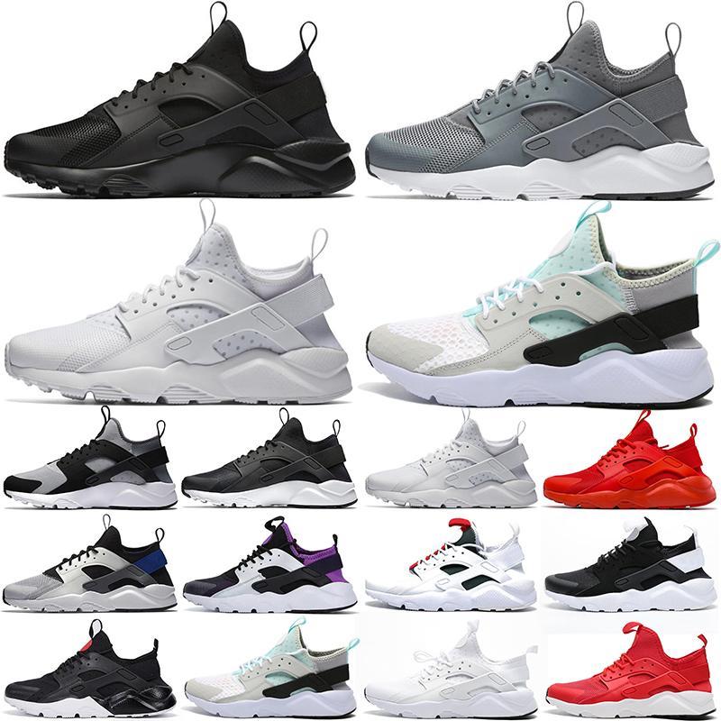 huarache huaraches sneakers الاحذية 4.0 1.0 الرجال والنساء الأحذية الثلاثي أبيض أسود أحمر رمادي Huaraches رجل مدرب الرياضة حذاء 36-45
