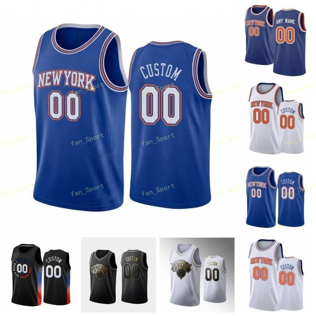 도시 적립 에디션 사용자 정의 인쇄 Taj 67 Gibson Frank 11 Ntilikina Obi 1 Toppin Jared 0 Harper Theo 21 Pinson Basketball Jerseys 남성 여성