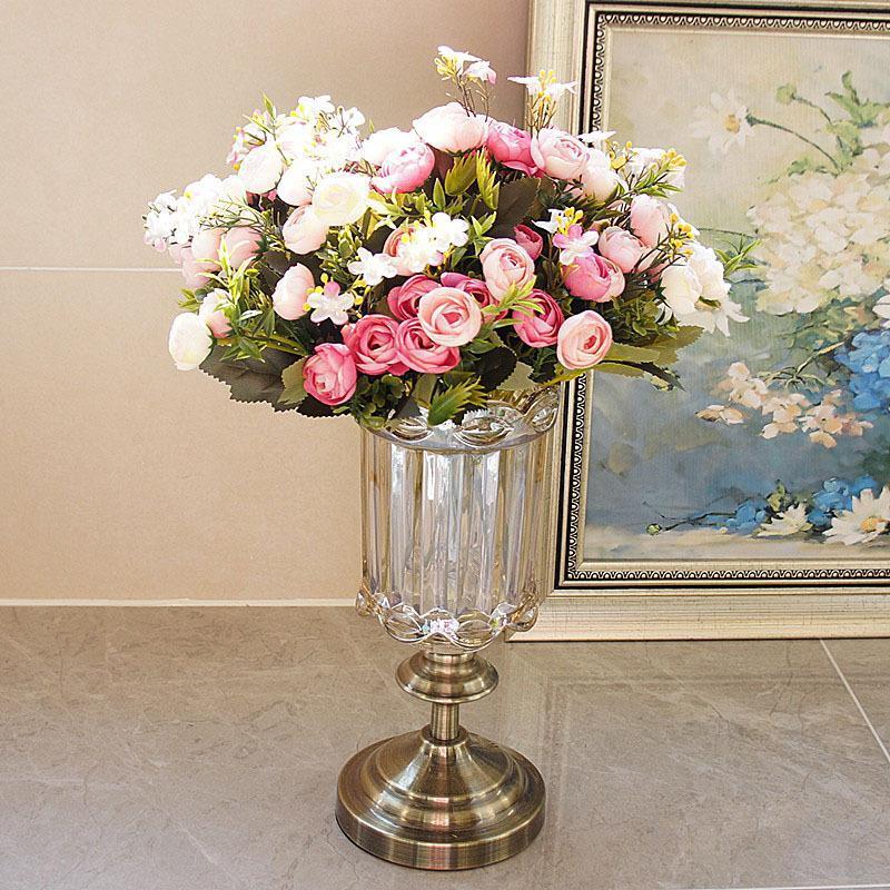 Flores / 1 pacote artificial camélia botões de flores buquê flor de seda festa de casamento mesa decoração decorativa grinaldas