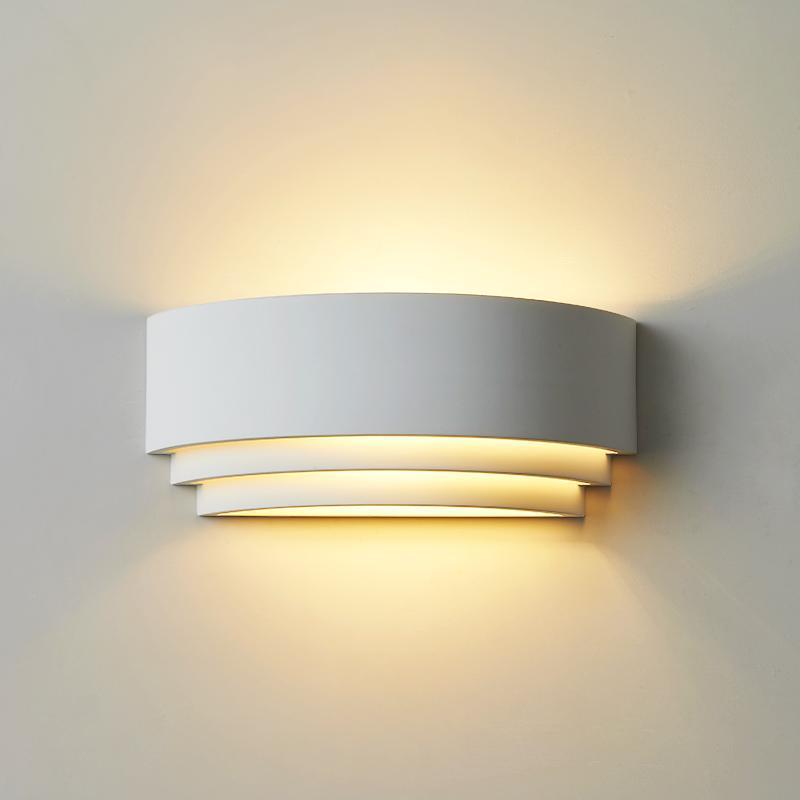 북유럽 LED 벽 빛 유럽 대형 흰색 미니멀리스트 침대 램프 장식 Lampara de acted 침실 장식 BK50BD