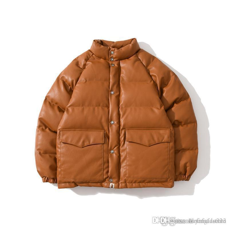 (Épaissi) veste de vêtements en cuir décontracté APE PU Nouveau