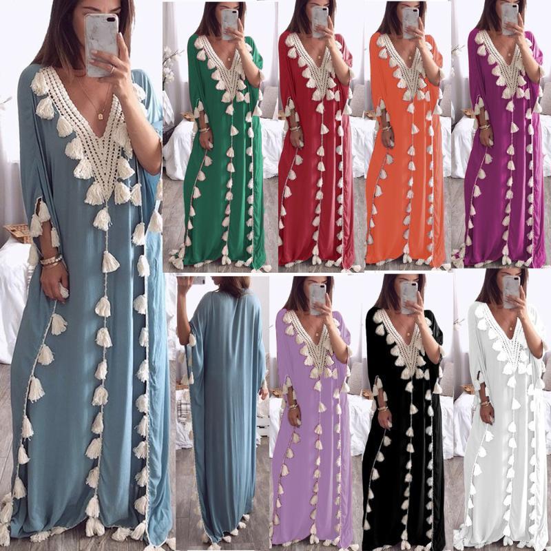 Muslim Abaya Kimono Shirt Hijab Dress Ethnic Arabic African Dashiki Eid Ramadan Islamic Djellaba Sexy Lady Party Clothing