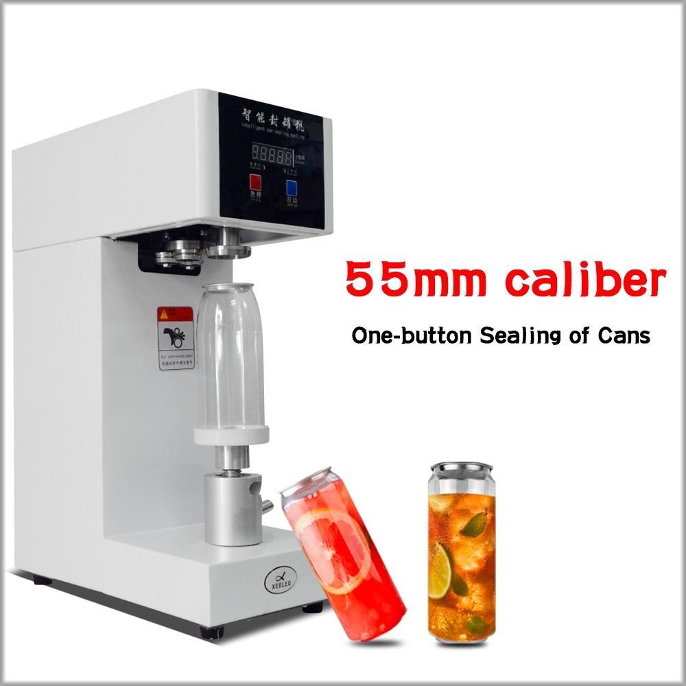 Máquina de vedação do selante da garrafa da bebida da bebida do selante de 55mm para 330ml / 500 / 650ml Chá de leite / café do animal de estimação pode selante 220V / 110V