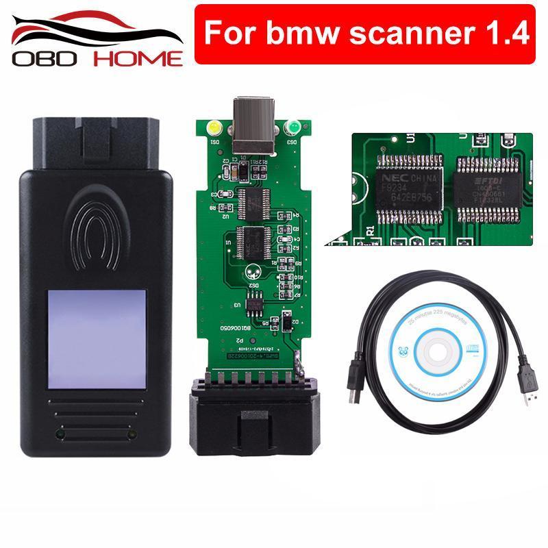 Strumenti diagnostici OBD2 per scanner 1.4.0 Lettore di codice 1.4 Interfaccia USB Unlock versione A ++ Chip