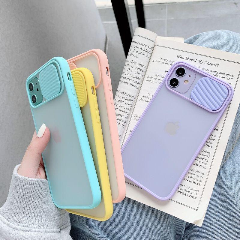 Capa de telefone de proteção de lente de câmera para iphone 11 12 pro máx 8 7 6 6 s mais xr xsmax x xs se 2020 12 cor doces macio tampa traseira