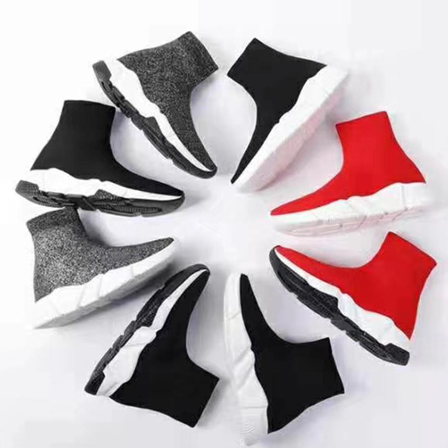 Çorap Erkek Kadın Rahat Ayakkabılar Platformu Sneaker Bej Sarı Siyah Pembe Beyaz Kırmızı Neon Düz Moda Spor Boyutu 35-45 Kutusu ile ayakkabı ile 01 01